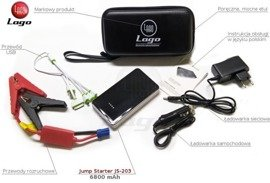 Starter akumulatorowy, Jump Starter, Booster, Power Bank 6800 mAh JS203