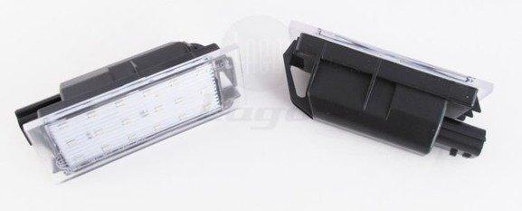 Lampki LED podświetlenia tablicy rejestracyjnej RENAULT MEGANE CLIO LAGUNA MASTER