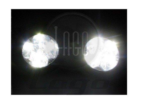 Okrągłe światła do jazdy dziennej Einparts DRL 410O 70mm średnicy, uniwersalne do montażu w miejscu halogenów, dedykowane